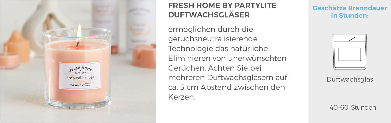 PartyLite® Fresh Home Duftwachsgläser