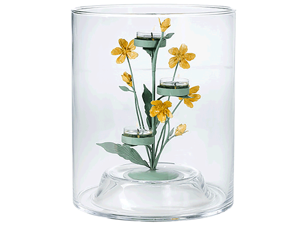 PartyLite® Teelichtbaum Floral & Clearly Creative Windlicht,